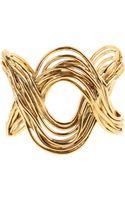 Aurelie Bidermann Hermosa Beach Cuff in 18k Gold Plated Brass - Lyst