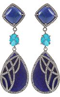Colette Lapis Lazuli and Cavansite Drop Earrings - Lyst