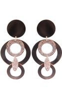 Luxury Fashion Drop Disc Earrings - Lyst