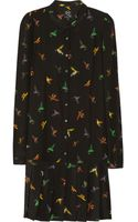 McQ by Alexander McQueen Bird Print Silk Dress - Lyst