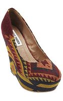 Steve Madden Pammy Printed Wedge Pumps - Lyst