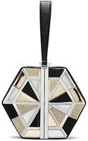 Diane Von Furstenberg Diamond Box Beaded Clutch - Lyst