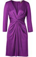 Issa Amethyst Deep Vneck Silk Jersey Dress - Lyst