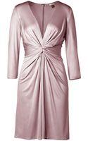 Issa Pale Mauve Draped Silk Jersey Dress - Lyst