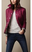 Burberry Cropped Quilted Jacket - Lyst