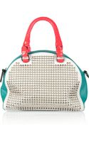 Christian Louboutin Small Studded Leather Bowling Bag - Lyst