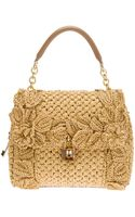 Dolce & Gabbana Sicily Raffia Handbag - Lyst