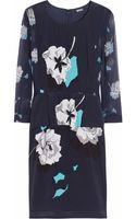 DKNY Dolores Stretchsilk Crepe De Chine Peplum Dress - Lyst
