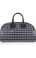 Proenza Schouler Kiri Woven Leather and Patentleather Bowling Bag - Lyst