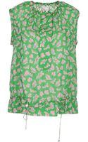 Diane Von Furstenberg Sleeveless Shirts - Lyst