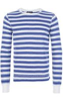 Dolce & Gabbana Striped Long Sleeve T-shirt - Lyst