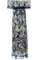 Philipp Plein Baroque Print Gypsy Dress - Lyst