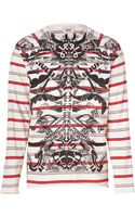 Marc Jacobs Whitered Cotton Graphic Print Long Sleeve T-Shirt - Lyst