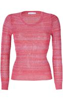 See By Chloé Tonal Pink Variegated Knit Cotton Pullover - Lyst