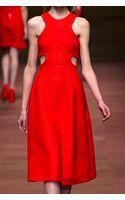 Carven Long Cut Out Dress - Lyst