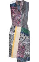 Preen By Thorton Bregazzi Patchwork Python Dress - Lyst