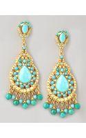 Jose & Maria Barrera Turquoise Statement Earrings - Lyst