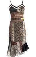 Preen By Thorton Bregazzi Anje Pythonprint Georgette Dress - Lyst