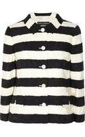 Dolce & Gabbana Striped Cotton blend Jacquard Jacket - Lyst