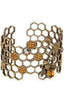 Alexander McQueen Honeycomb Bracelet - Lyst