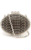 Christian Louboutin Mina Spiked Oval Clutch - Lyst