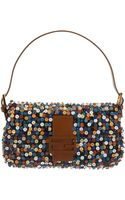 Fendi Multicolor Beaded and Sequined Baguette Bag - Lyst