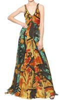 Maiyet Hand Printed Silk Chiffon Dress - Lyst