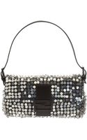 Fendi Metallic Beaded and Sequined Baguette Bag - Lyst