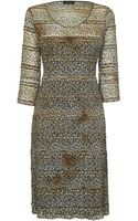 James Lakeland Long Sleeve Leopard Print Dress - Lyst