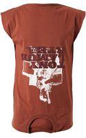 Maison Martin Margiela Upside Down Cotton Tshirt - Lyst