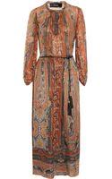 Isabel Marant Samuel Printed Silk gauze Midi Dress - Lyst