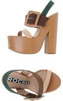 Rochas Platform Sandals - Lyst