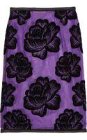 Christopher Kane Leathertrimmed Flocked Tulle Pencil Skirt - Lyst