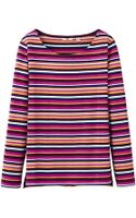 Uniqlo Women Striped Boat Neck Long Sleeve Tshirt C - Lyst
