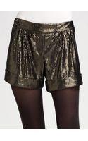 Diane Von Furstenberg Dax Matte Sequin Shorts - Lyst