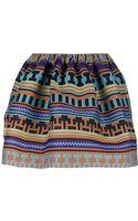 MSGM Aztec Print Skirt - Lyst