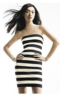 Robert Rodriguez Strapless Stripe Dress - Lyst
