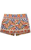 Dolce & Gabbana Shortlength Printed Cottonblend Swim Shorts - Lyst