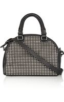 Christian Louboutin Panettone Small Spiked Leather Bowling Bag - Lyst