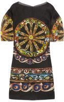 Dolce & Gabbana Printed Seer-sucker Silk blend Organza Dress - Lyst