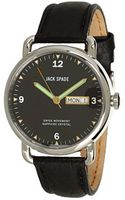 Jack Spade Buckner Black Face Steel Case with Grain Leather Heavy Stitch Strap - Lyst
