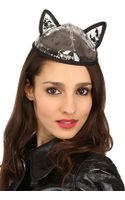Maison Michel Bibi Yoko Pvc Cat Ear Hat - Lyst