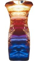 McQ by Alexander McQueen Mineral Print Dress - Lyst