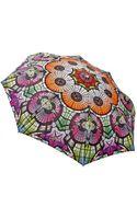 Jean Paul Gaultier Glass Print Compact Folding Umbrella - Lyst