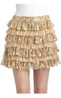 Alice + Olivia Tiered Lace Ruffle Skirt - Lyst
