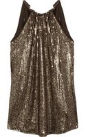 Michael by Michael Kors Sequined Jersey Top - Lyst