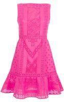 Valentino Crochet Knit Dress - Lyst