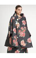 Comme Des Garçons Floral Jacquard Coat - Lyst