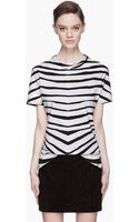 Pierre Balmain Black Zebra Print Tshirt - Lyst