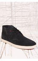 Clae Strayhorn Suede Shoes in Black - Lyst
